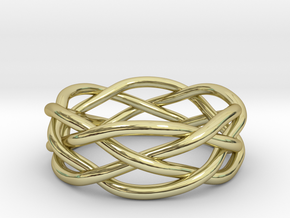 Dreamweaver Ring (Size 11.5) in 18K Gold Plated