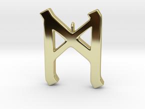 Rune Pendant - Mann in 18K Gold Plated