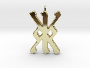 Rune Pendant - Kalc (kk) in 18K Gold Plated