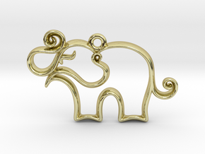 Tiny Elephant Charm in 18K Gold Plated