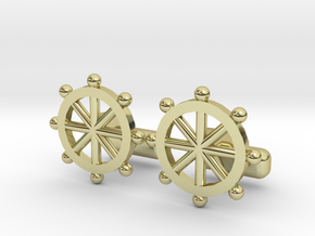 Ship Helm Cufflinks, Part of the NEW Nautical Coll in 18K Gold Plated