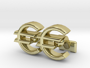 Euro Symbol Cuff-Links in 18K Gold Plated