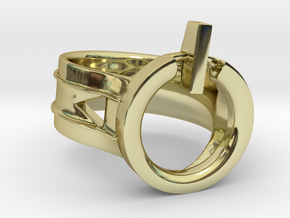 Power Ring Size 6 in 18K Gold Plated