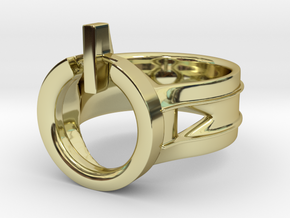 Power Ring Size 9 in 18K Gold Plated