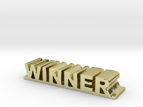 """Perfect golden words business/birthday gift  """" WIN in 18K Gold Plated"""