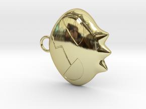 Yoko Skull Clip Dangle Earring Remix (1in) in 18K Gold Plated