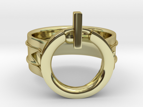 Power Ring Size 12 in 18K Gold Plated