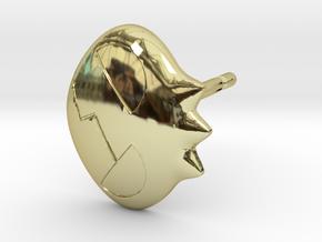 Yoko Skull Clip Stud Earring Remix (.333in) in 18K Gold Plated