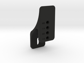 Plate Mount of Vertical Plate Mount Set (Mini) in Black Strong & Flexible