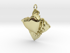 Cloth Heart in 18K Gold Plated
