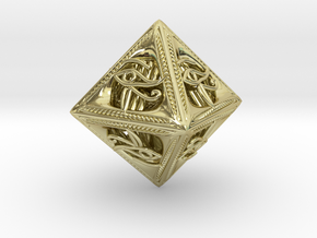 Millennium Dice in 18K Gold Plated