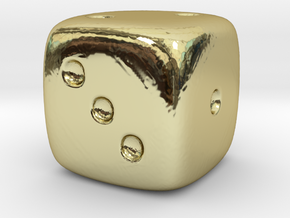 Dice in 18K Gold Plated