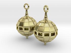Globe Earrings in 18K Gold Plated