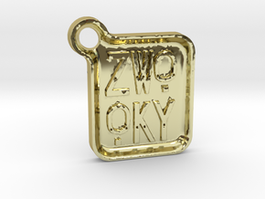 ZWOOKY Keyring LOGO 14 4cm 5mm rounded in 18K Gold Plated