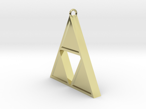 Triforce Pendant in 18K Gold Plated