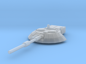 15mm Sci-Fi/Near Future Tank Turret in Smooth Fine Detail Plastic
