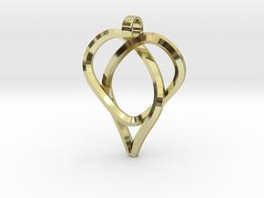 Trefoil Knot Heart Pendant in 18K Gold Plated