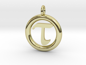 Tau Open Unit(cm) Pendant in 18K Gold Plated