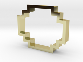 pixely cookie cutter in 18K Gold Plated