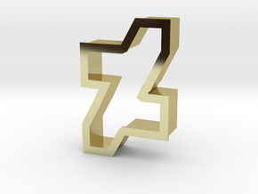 new dA logo cookie cutter in 18K Gold Plated