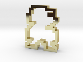 pixely plumber man cookie cutter in 18K Gold Plated