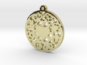 The Wheel of Time Pendant - By Celeste in 18K Gold Plated