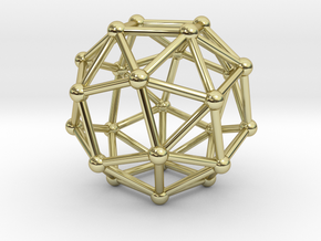 Snub Cube (left-handed) in 18K Gold Plated