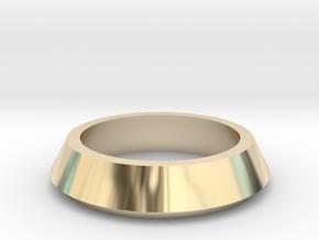 SX350 Simple Bezel V2 (short) in 14k Gold Plated Brass