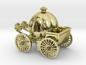 Pumpkin carriage in 18K Gold Plated