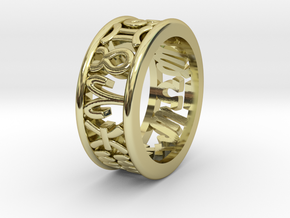 Constellation symbol ring 6.5-7 in 18K Gold Plated