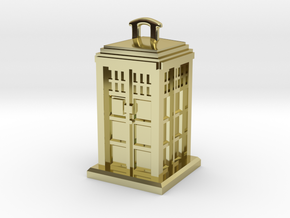 Police Box Pendant in 18K Gold Plated