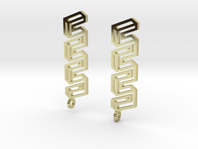 Endless Road Earings in 18K Gold Plated
