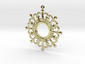 Flower shape pendant in 18K Gold Plated