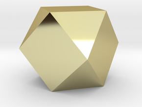 Cube Octahedron (Vector Equilibrium) in 18K Gold Plated