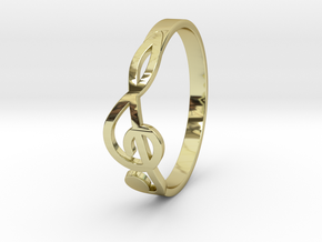 Size 8 G-Clef Ring  in 18K Gold Plated