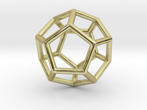 0022 Fullerene c20ih Bonds (Dodecahedron) in 18K Gold Plated
