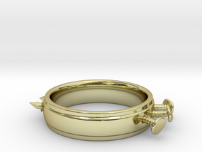 Nailed Wedding Ring - Size 7 in 18K Gold Plated
