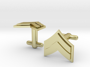Corporal Cufflinks - Silver, Brass, Gold in 18K Gold Plated