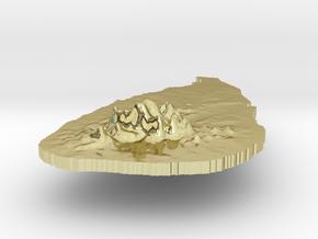 Sri Lanka Terrain Silver Pendant in 18K Gold Plated