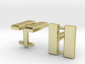 Captain Bars Cufflinks in 18K Gold Plated