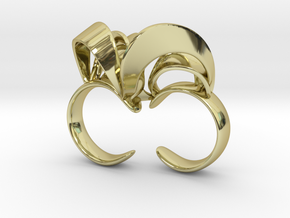 Ribbon Double Ring 6/7  in 18K Gold Plated
