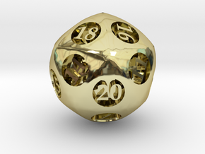 Overstuffed d20 in 18K Gold Plated