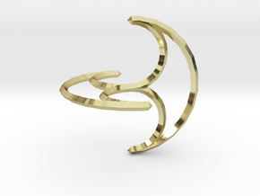 Freely Rolling Konoid 60mm in 18K Gold Plated