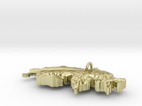 Switzerland Terrain Silver Pendant in 18K Gold Plated