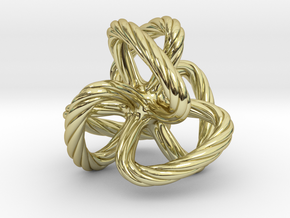 Dodecahedron quadroloop in 18K Gold Plated