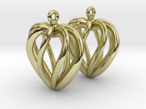 Heart Cage Earrings in 18K Gold Plated