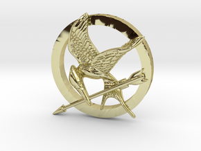 Mocking Jay Pendant in 18K Gold Plated