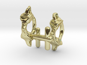 Atlas Vertebra (C1) Cufflinks in 18K Gold Plated