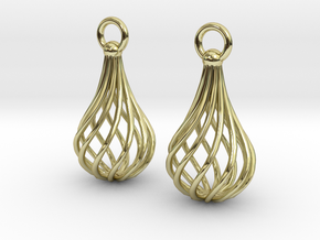 Twisted Cage earrings in 18K Gold Plated