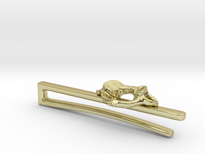 Atlas Vertebra (C1) Tieclip in 18K Gold Plated
